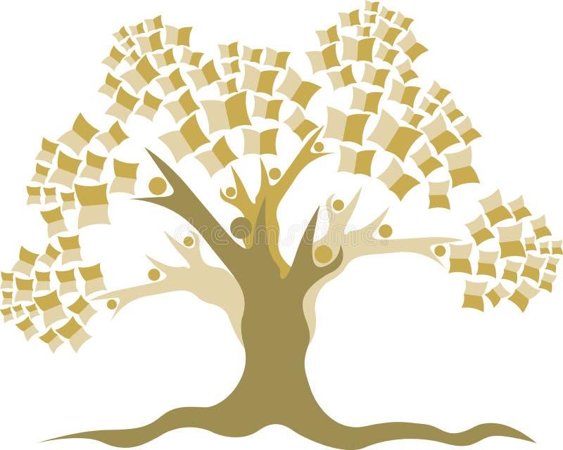 Edukaci drzewa logo ilustracja wektor