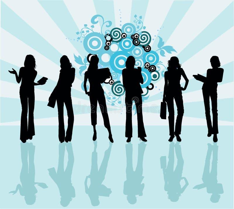 ilustracyjne kobiety wektorowe przedsiębiorstw