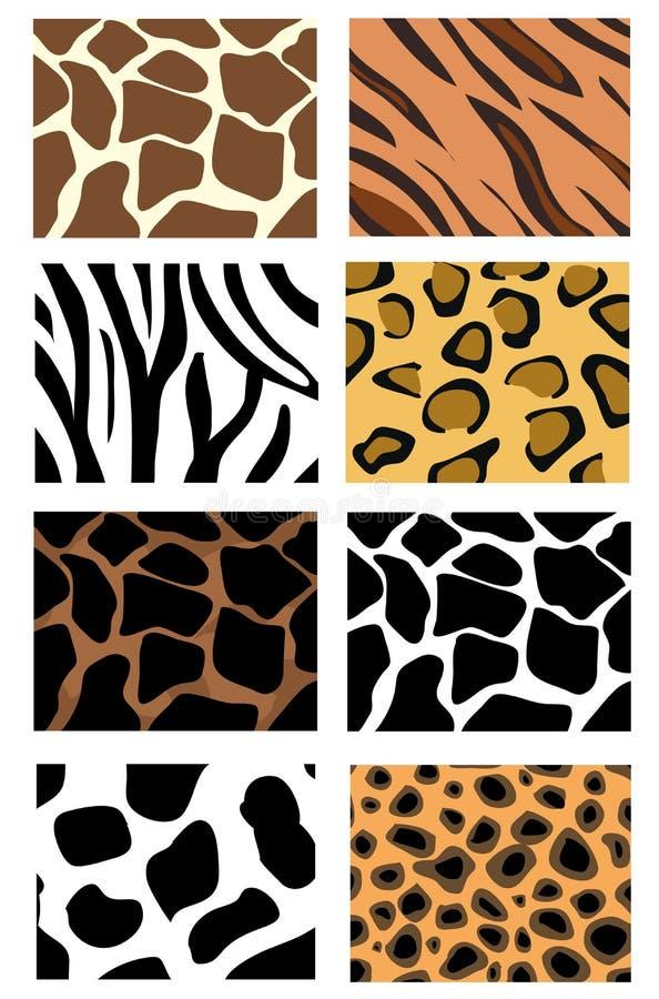 ilustracyjne tekstury zwierzęce skóry ilustracja wektor