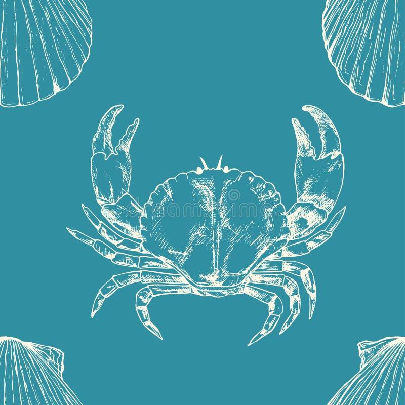 ilustracyjnego żołnierz piechoty morskiej wzoru bezszwowy wektor bańka kopii ryby morskie życie ilustracyjnego wodorosty są rozmi ilustracja wektor