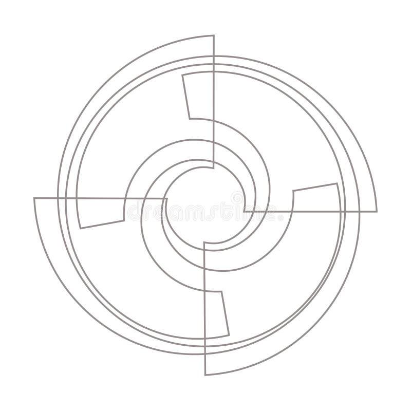 Ilustracyjnego piktograma ikony Śmigłowy wektor Prosty płaski symbol zdjęcia royalty free