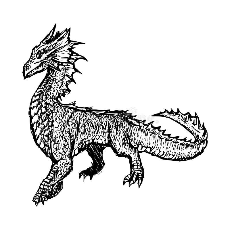 Ilustracyjni wektorowi ręka remisu doodles imaginacyjna istota ilustracja wektor