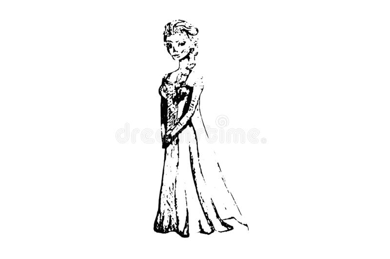 Ilustracyjny «Elsa « zimne serce ilustracji