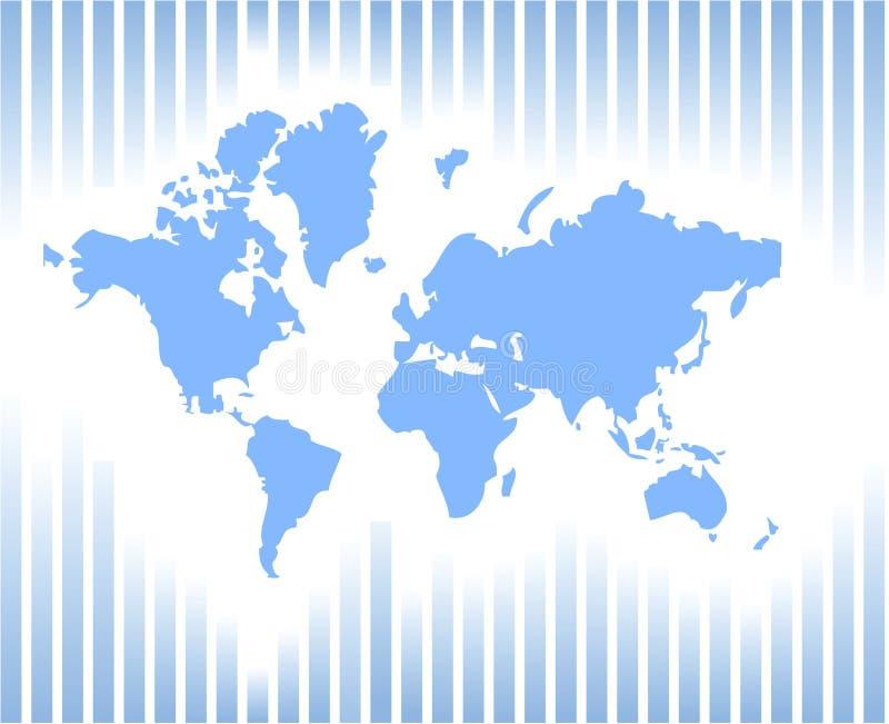 ilustracyjny świat wektor karty, zdjęcie royalty free