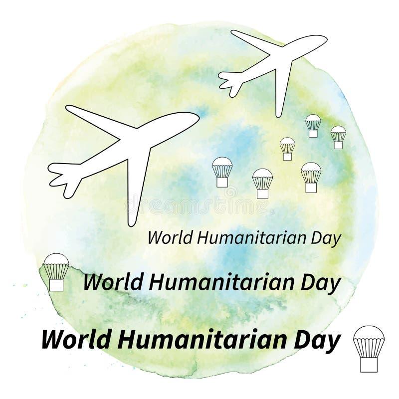 Ilustracyjny Światowy humanitarny dzień royalty ilustracja
