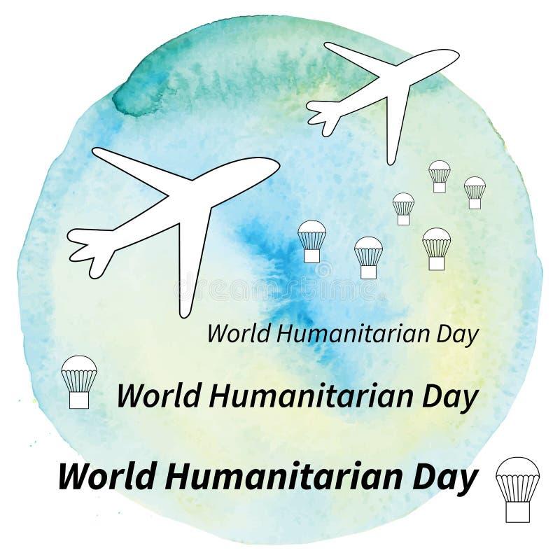 Ilustracyjny Światowy humanitarny dzień ilustracji