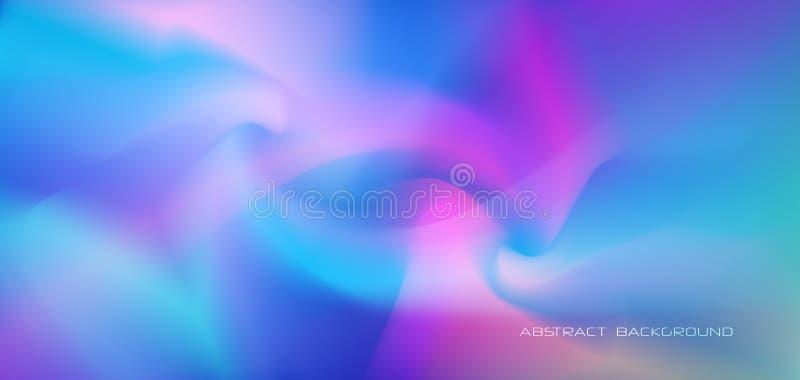 Ilustracyjny abstrakcjonistyczny jarzyć się, neonowy światło, minimalny jaskrawy fluid, ciekłego gradientu tło Wektorowy nowożytn royalty ilustracja