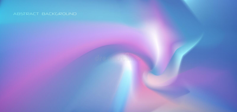 Ilustracyjny abstrakcjonistyczny jarzyć się, neonowy światło, minimalny jaskrawy fluid, ciekłego gradientu tło Wektorowy nowożytn ilustracji