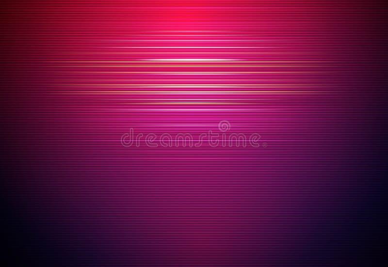 Ilustracyjny Abstrakcjonistyczny jarzyć się, neonowy lekki skutek, fala linia, falisty wzór ilustracja wektor