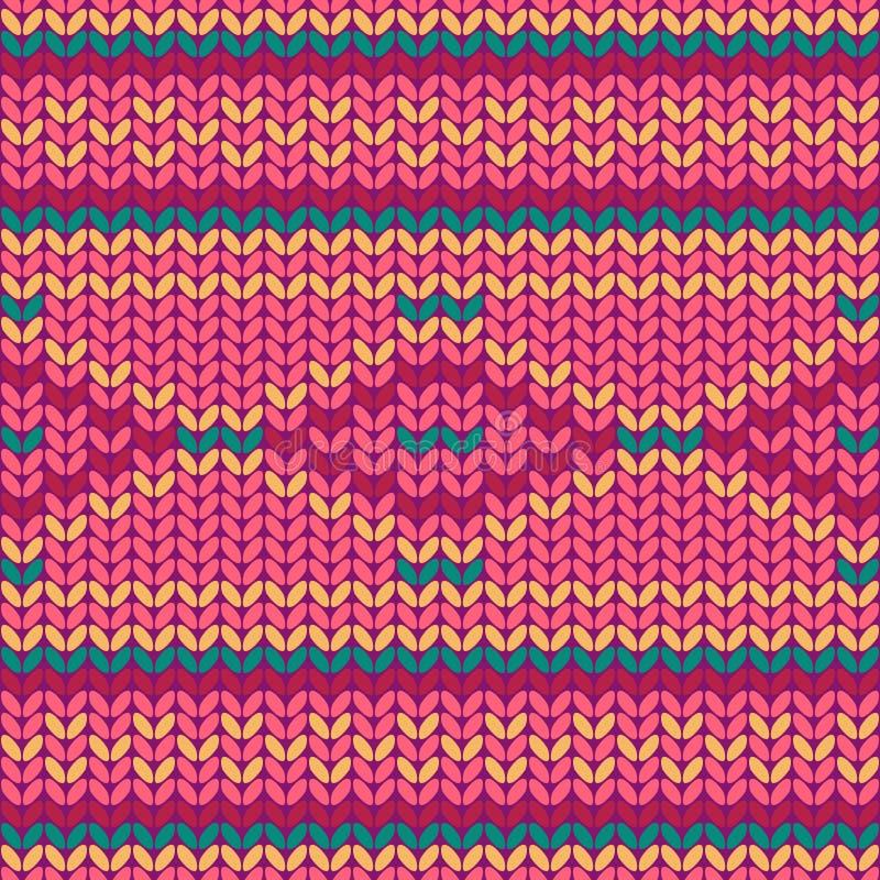 Ilustracyjny bezszwowy trykotowy wzór. ilustracja wektor