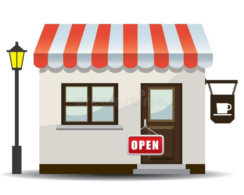 ilustracyjny ikona sklep ilustracji