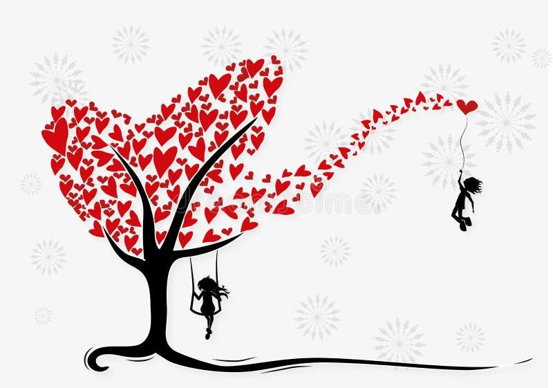ilustracyjny jest mój valentine ilustracji