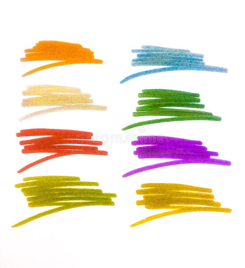 Ilustracyjny kolorowy skrobaniny t?o zdjęcia royalty free