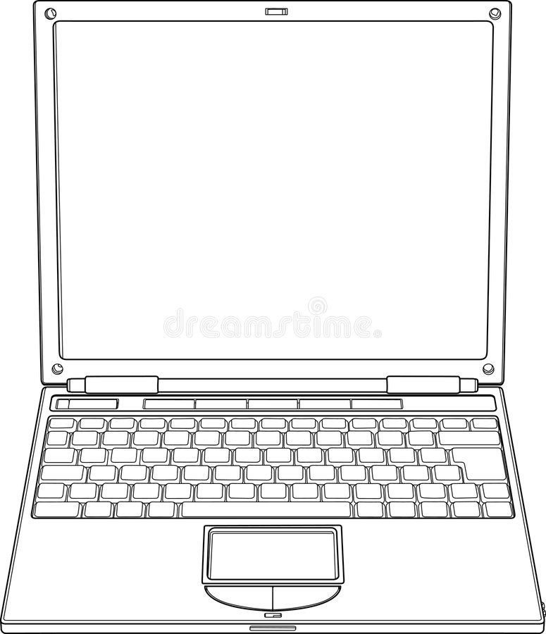 ilustracyjny laptopu konturu wektor