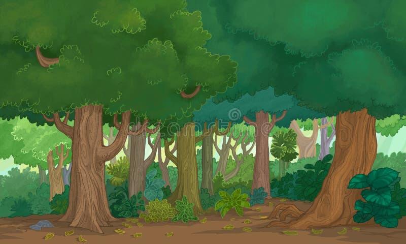 Ilustracyjny las ilustracja wektor