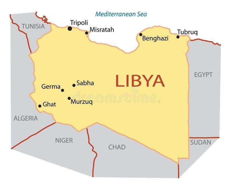 ilustracyjny Libya mapy wektor ilustracji