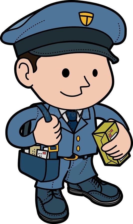 ilustracyjny mailman royalty ilustracja