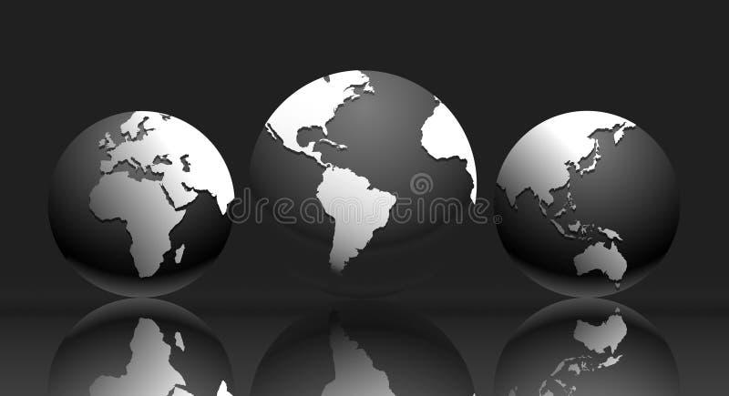ilustracyjny mapa świata ilustracji
