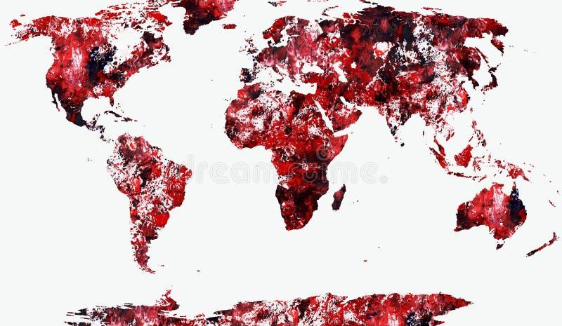 ilustracyjny mapa świata cieni