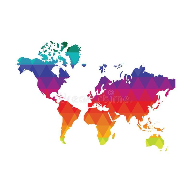 ilustracyjny mapa świata cieni ilustracji