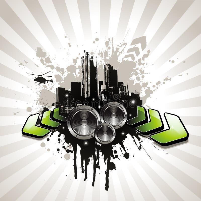 ilustracyjny muzyczny miastowy royalty ilustracja