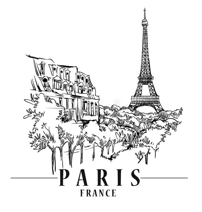 ilustracyjny Paris royalty ilustracja