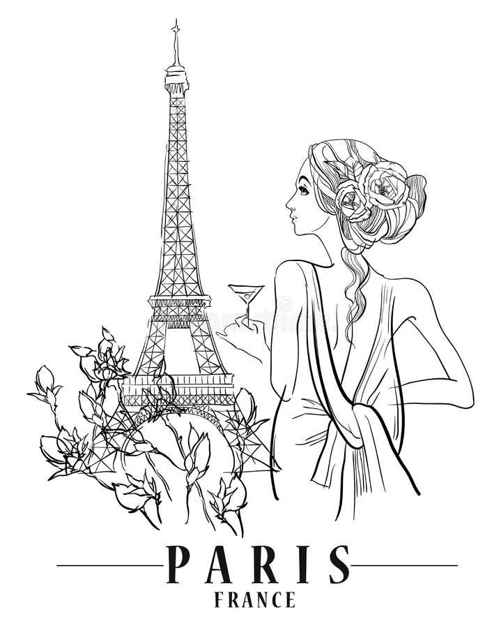 ilustracyjny Paris ilustracja wektor