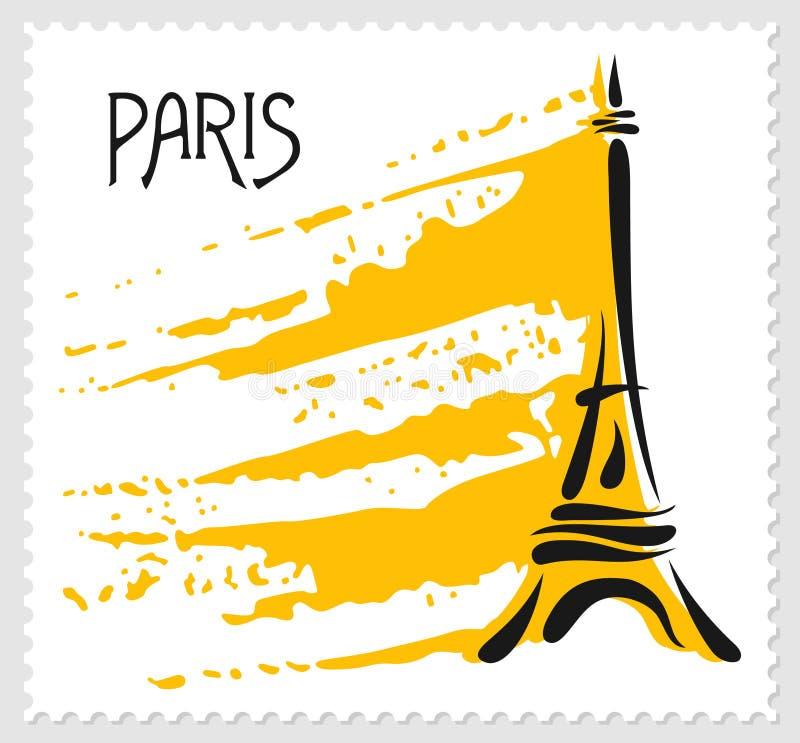 ilustracyjny Paris teme wektor ilustracja wektor