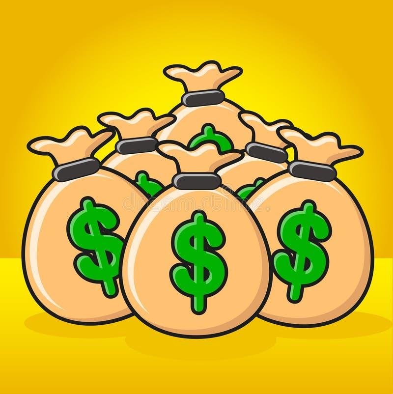 ilustracyjny pieniądze ilustracja wektor