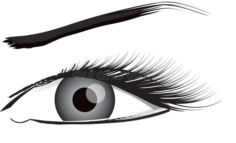 ilustracyjny podbite oko biel ilustracji