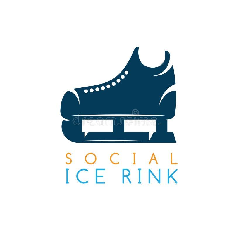 ilustracyjny pojęcie ogólnospołeczny lodowy lodowisko ilustracji