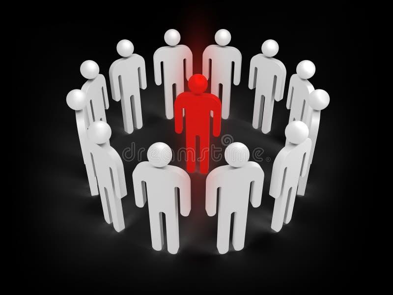 Ilustracyjny pojęcie wirusowa infekcja, 3d ludzie royalty ilustracja