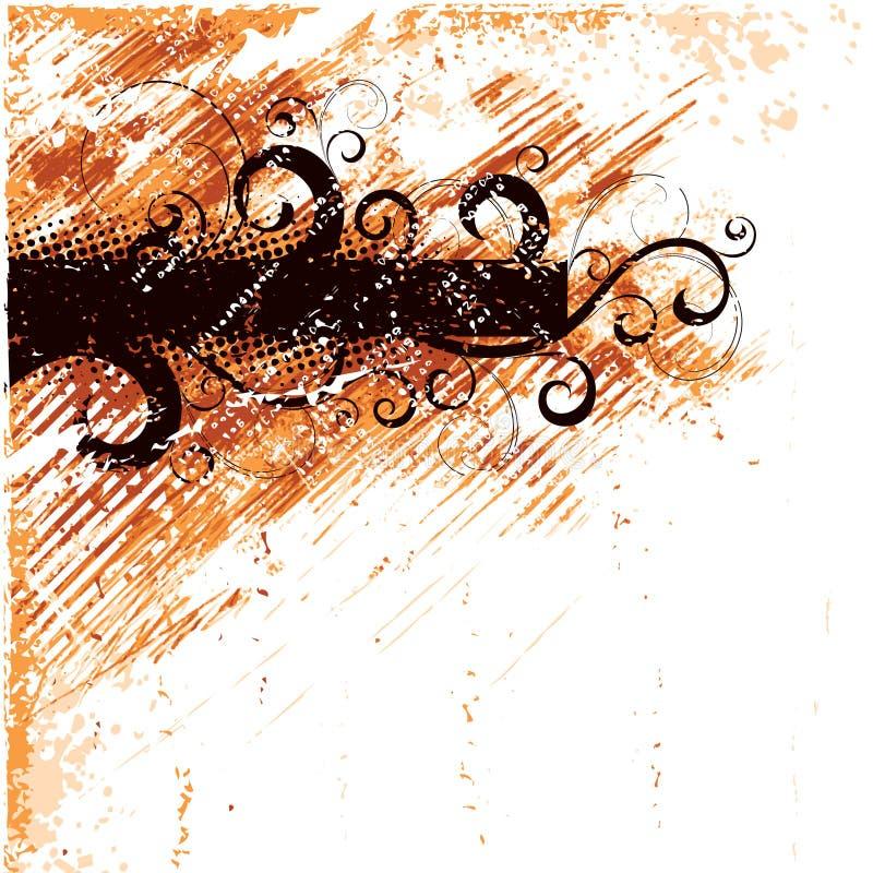 ilustracyjny pomarańczowy retro ilustracja wektor