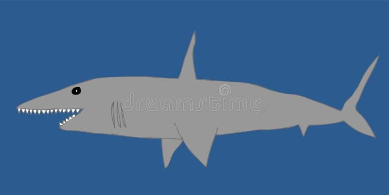 ilustracyjny rekin ilustracja wektor