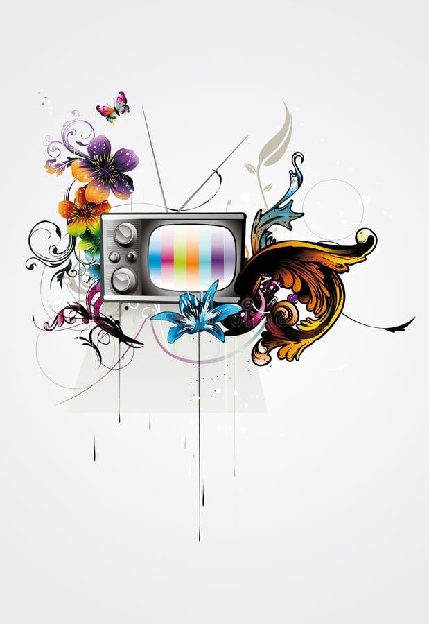ilustracyjny retro tv ilustracji