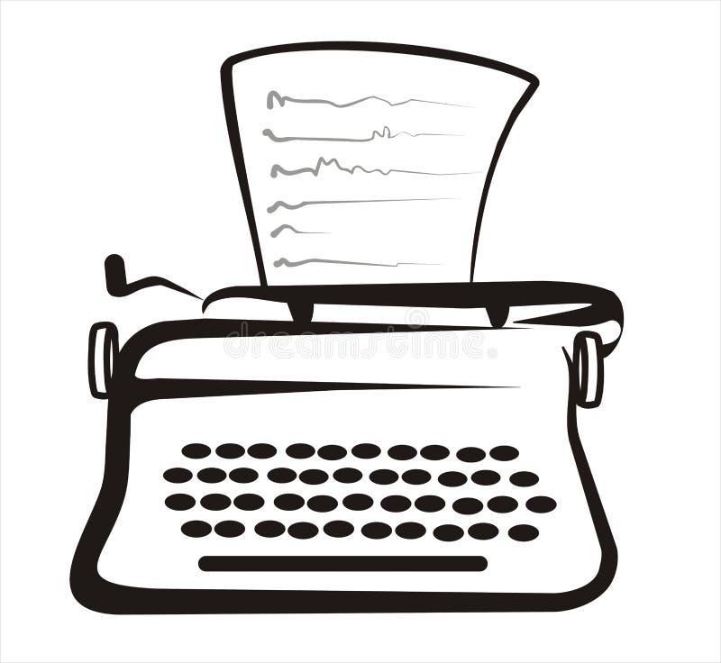 ilustracyjny retro typewryter ilustracji