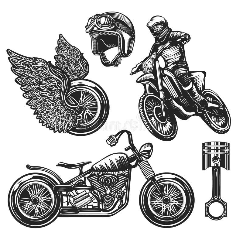 Ilustracyjny rocznika plakat motocyklu ścigać się ilustracji