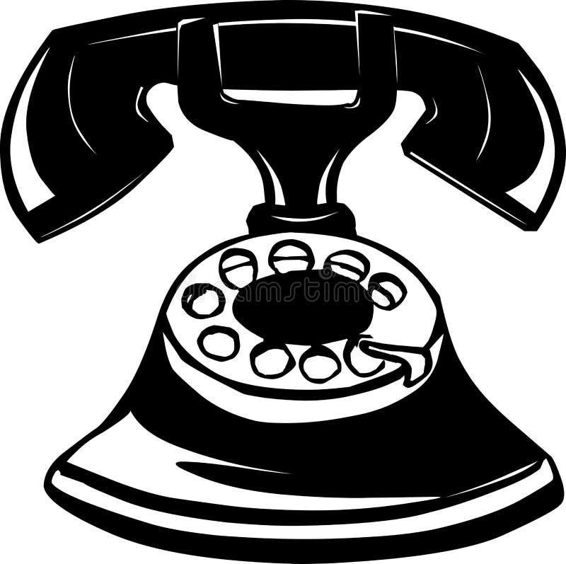 ilustracyjny stary telefon ilustracji