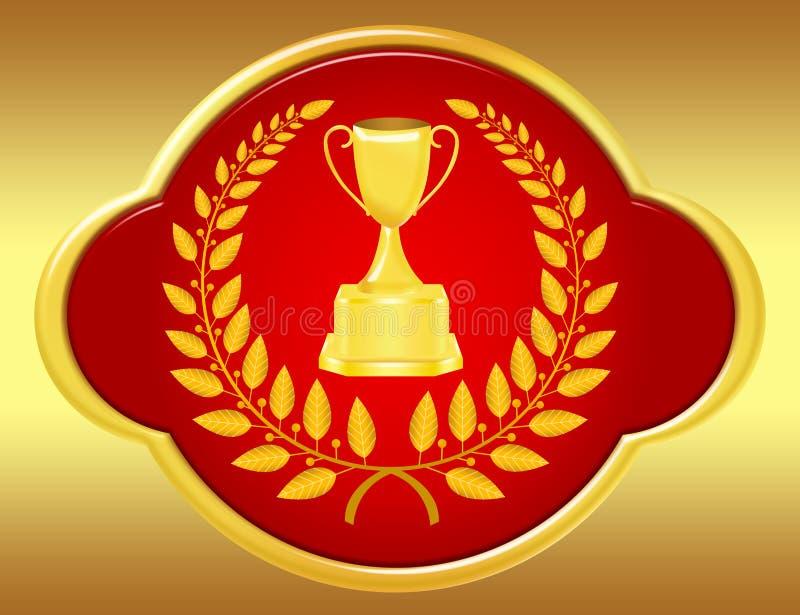 ilustracyjny trofeum royalty ilustracja