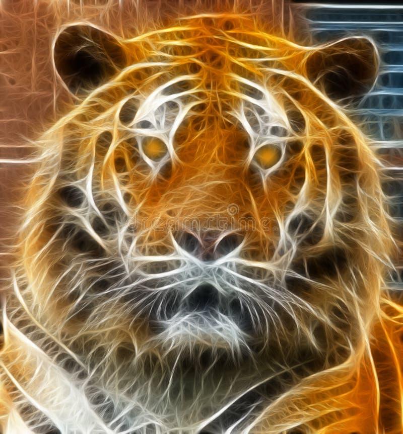 ilustracyjny tygrys ilustracji