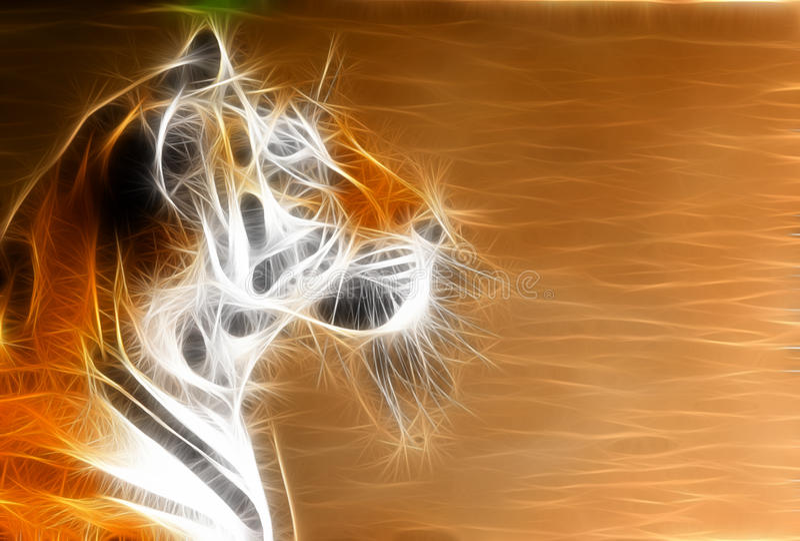 ilustracyjny tygrys ilustracja wektor