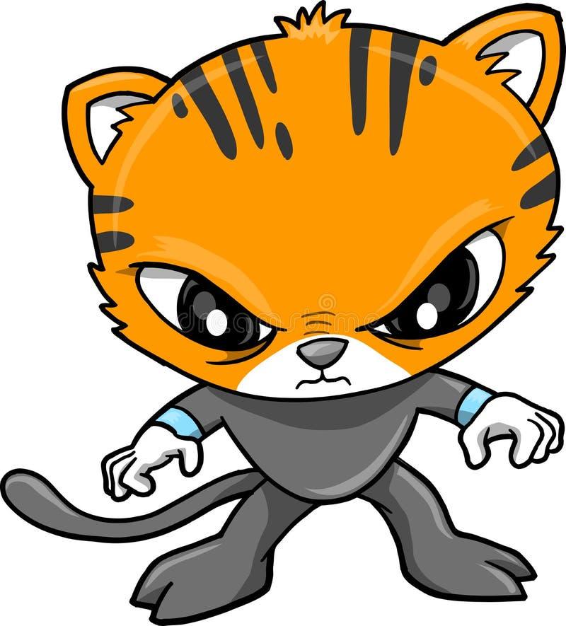 ilustracyjny tygrysa wektoru wojownik ilustracji