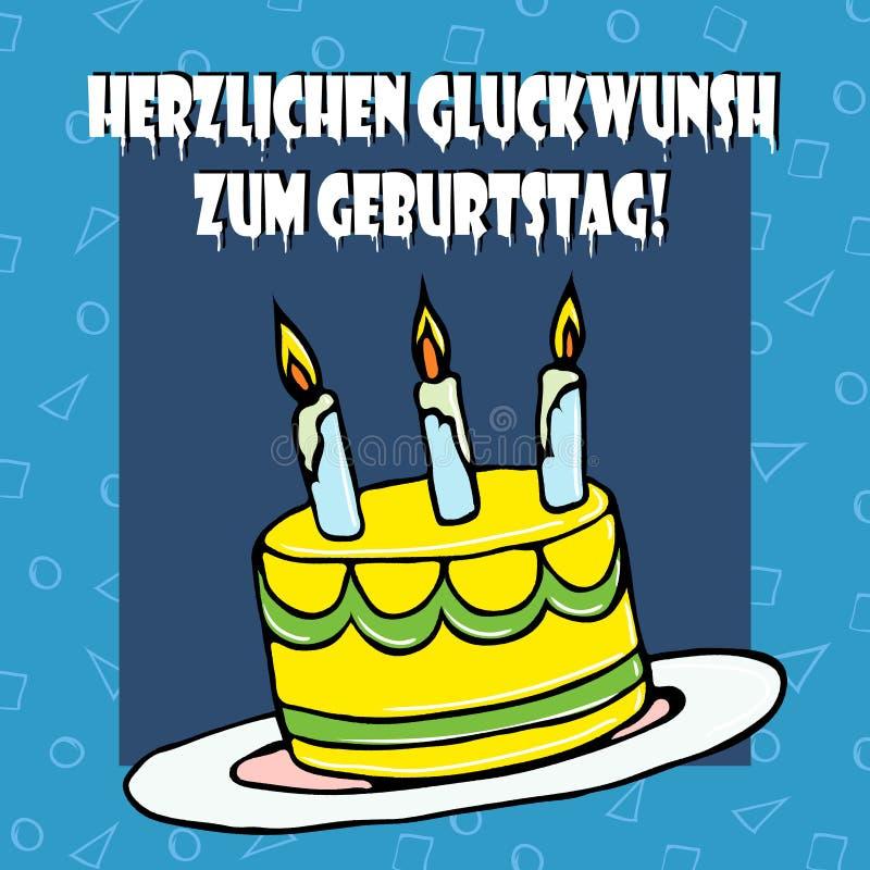 Ilustracyjny urodziny cake2 ilustracja wektor