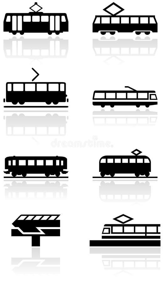ilustracyjny ustalonego symbolu pociągu wektor ilustracja wektor