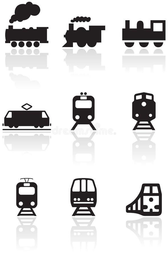 ilustracyjny ustalonego symbolu pociągu wektor ilustracji