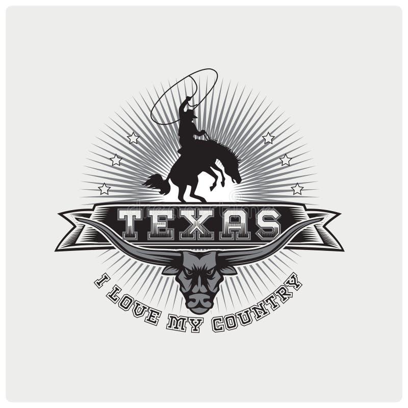 Ilustracyjny wektor loga Texas kraj ilustracji