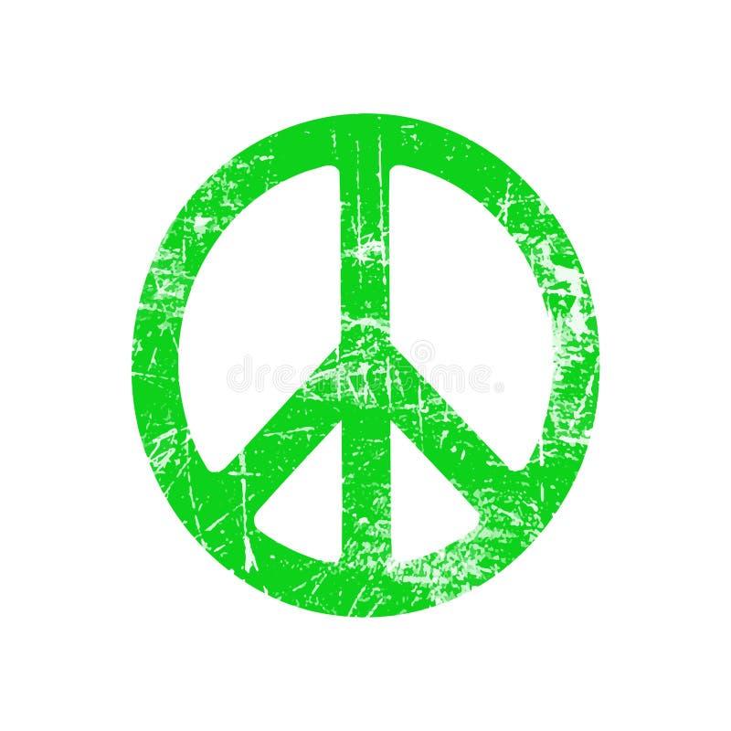 Ilustracyjny wektor zieleni grunge elipsy pokoju znaka symbol ilustracji