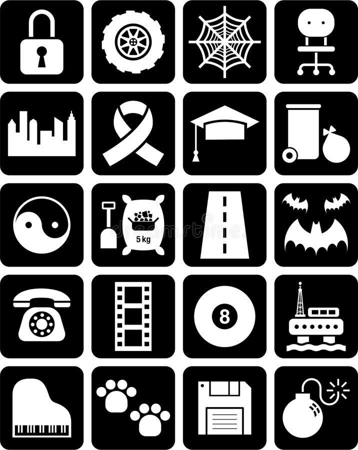 Grupo de ícones ilustração stock