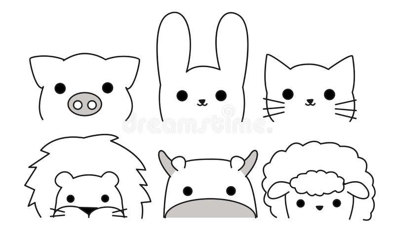 Ilustrador de animais do esboço ilustração royalty free