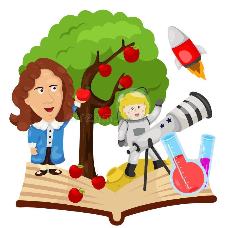 Ilustrador de Sir Isaac Newton ilustração stock